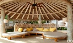Soneva Fushi Jungle Reserve Open Air Sala with daybeds